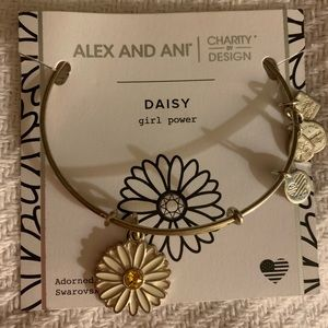 Daisy flower alex and ani silver bangle